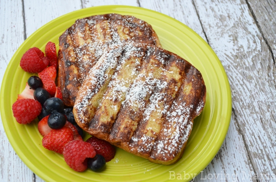 Cream Cheese Stuffed French Toast Grill Pan Press