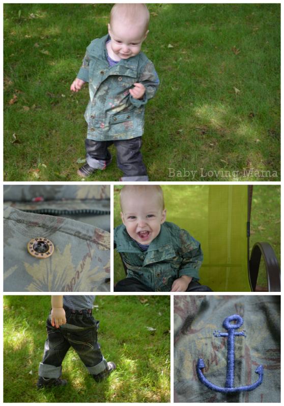 Mamas and Papas Babywear Nautical Cuff Jean Safari Jacket