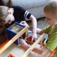 Motorworks: Wooden Vehicle Toys with Customization Options & Tri Level Garage {Review & Giveaway}