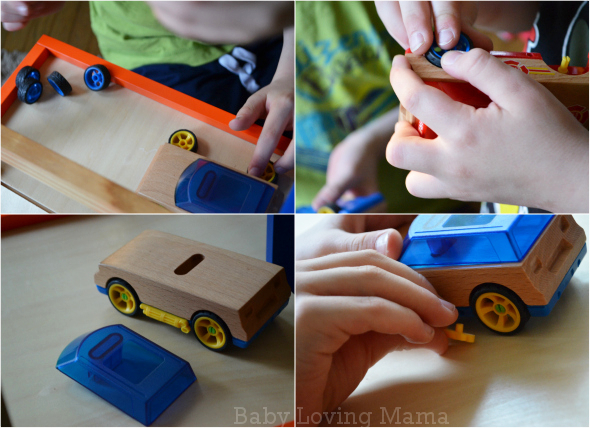 Motorworks Customizeable Wooden Toy vehicles
