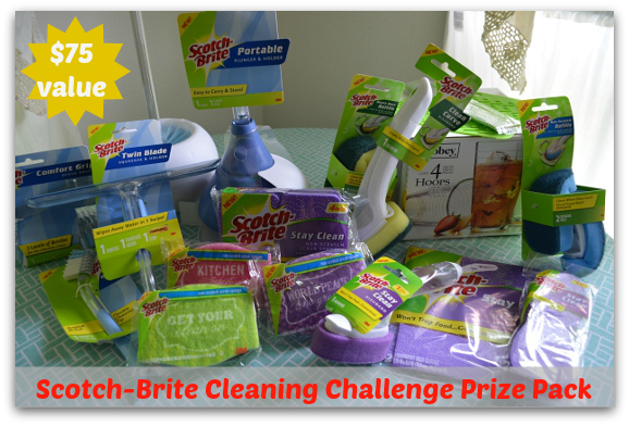 Scotch Brite Cleaning Challenge Giveaway