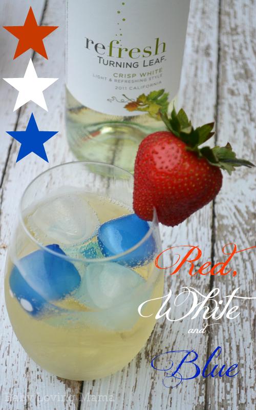 Turning Leaf Refresh Patriotic Wine Red White Blue drink