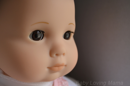 American Girl New Bitty Baby Collection Face Closup Light Skin Brown Eyes