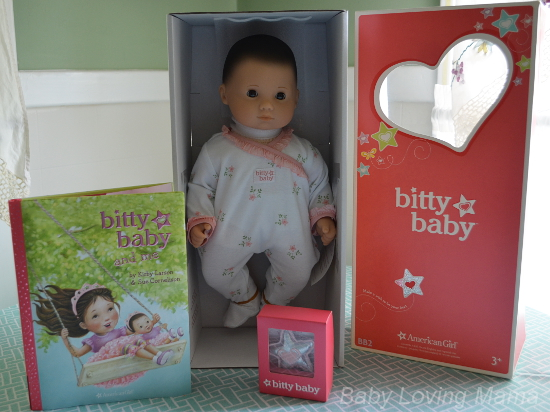 American Girl New Bitty Baby Collection Light Skin Brown Hair Brown Eyes