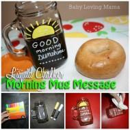 Liquid Chalker Mug Message Project: Good Morning Sunshine!