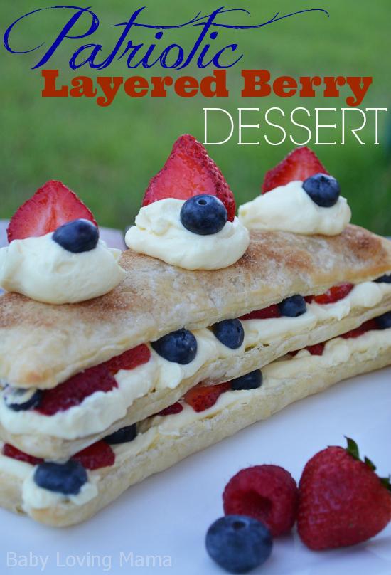 Patriotic Layered Berry Dessert