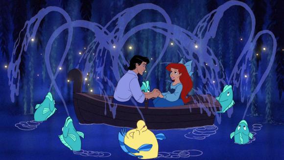 Little Mermaid Stills Boat Ariel Eric Kiss the Girl
