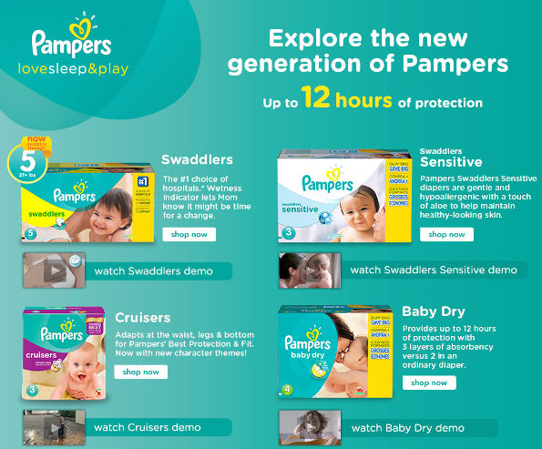Pampers BRUS Generation of Pampers