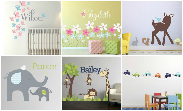 Wall Sticker Outlet Fabric Wall Decals Nursery Options