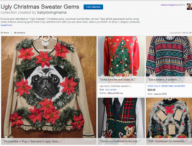 Ebay Baby Loving Mama Ugly Christmas Sweater Collection