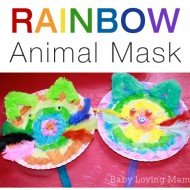 Rainbow Animal Mask {Craft Tutorial with Elmer's Early Learners Academy}