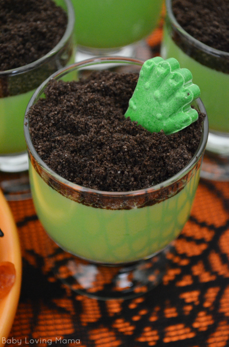 Halloween Zombie Hand Jello Pudding