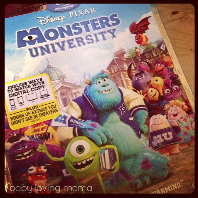 Monsters University BluRay DVD Instagram