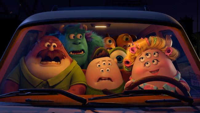 Monsters University Movie Still in Van Monsters Inc Sneak In