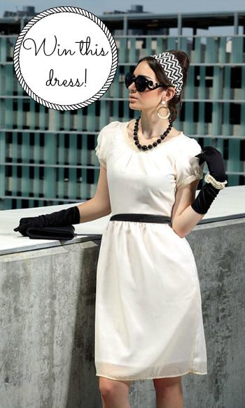 Shabby Apple Shazam White Party Dress Giveaway