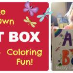 Make Your Own Art Box : Coloring Fun