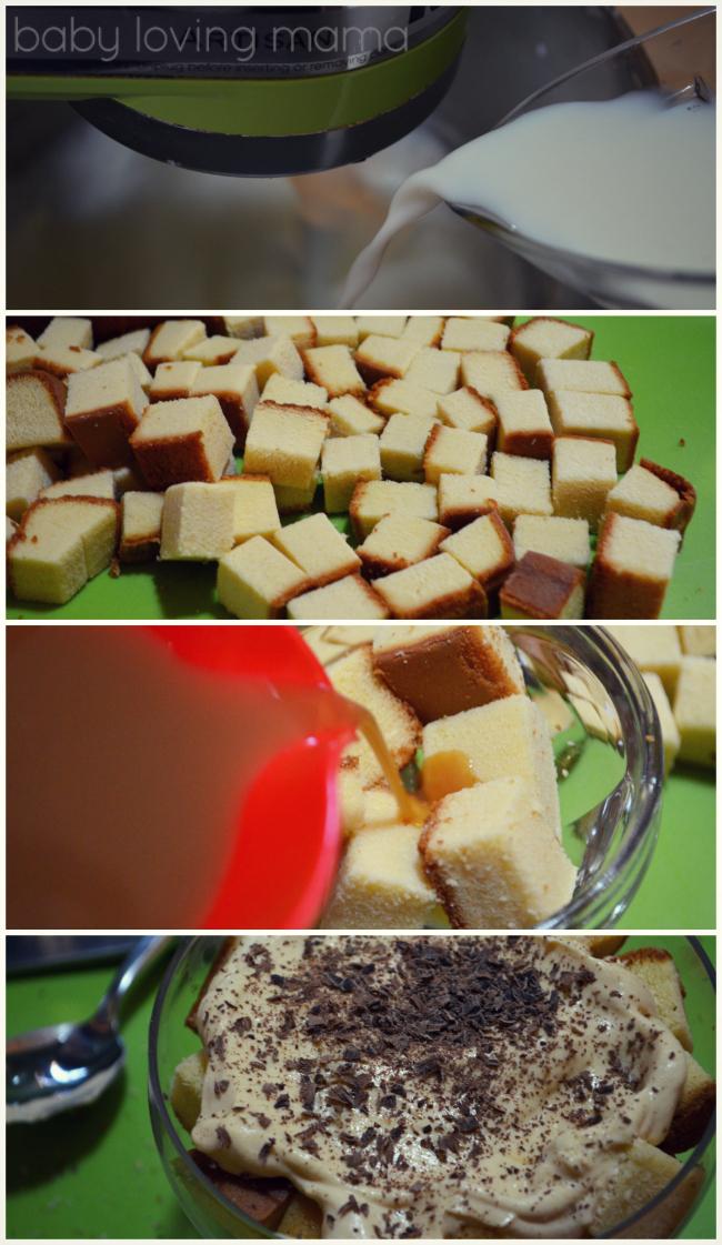 Caramel Macchiato Tiramisu Parfaits Steps Filter