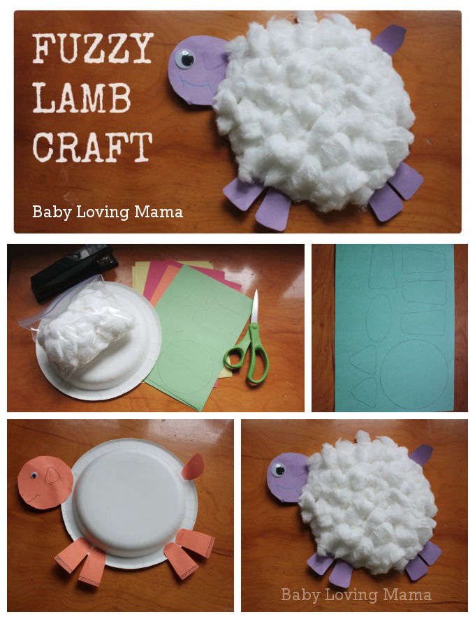 Paper plate; Construction paper ... & Fuzzy Lamb Paper Plate Craft Tutorial - Finding Zest