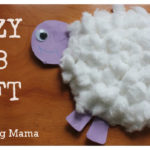 Fuzzy Lamb Paper Plate Craft Tutorial