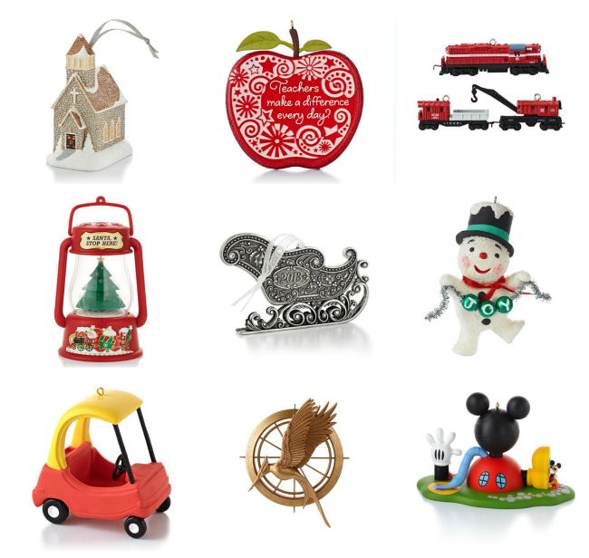Hallmark 2013 Holiday Ornaments