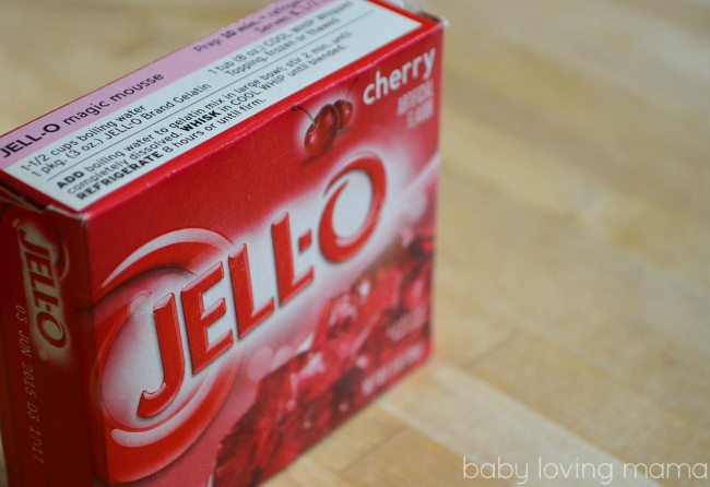 Jello 123 Cherry Poke Cake Jello Box