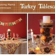 Turkey Tablescape Craft Tutorials + Joann Fabrics 50% OFF COUPON #turkeytablescapes