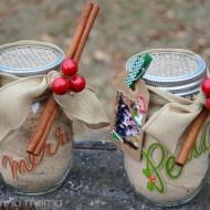 DIY Russian Tea Mason Jar Gift with Photo Gift Tag