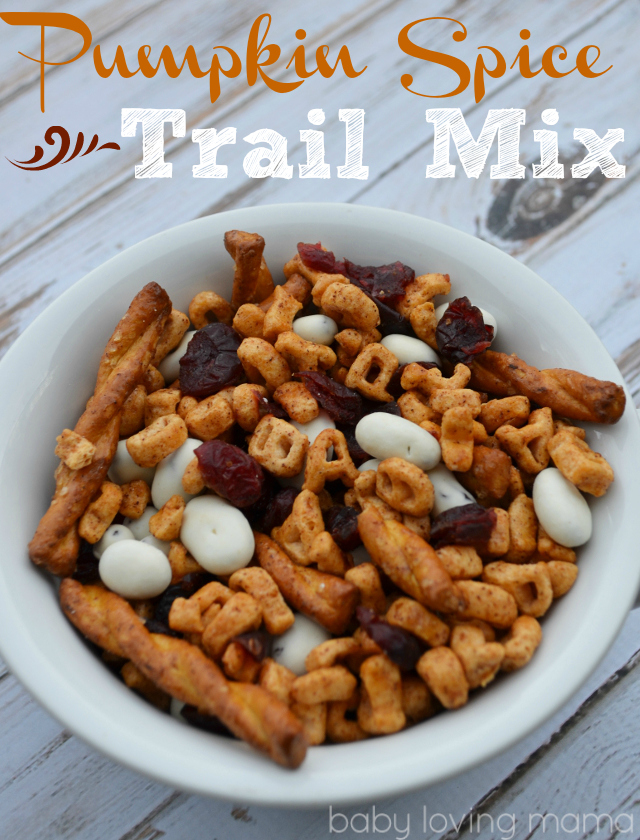 Pumpkin Trail Mix with Alphabits Cereal