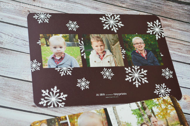 Tiny Prints Photo Christmas Cards Holiday Back Side