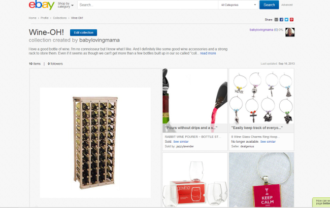 eBay Collections Wine Lovers Collection