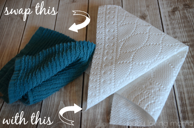 Bounty Duratowel vs Dishcloth