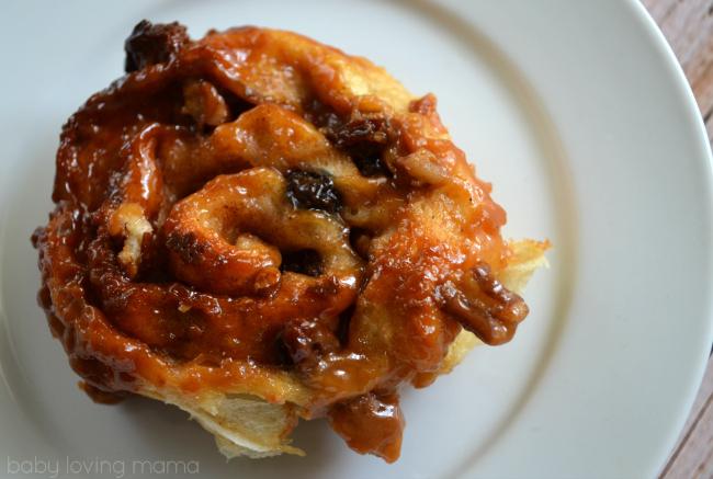 Caramel Raisin Nut Sticky Buns with Kraft
