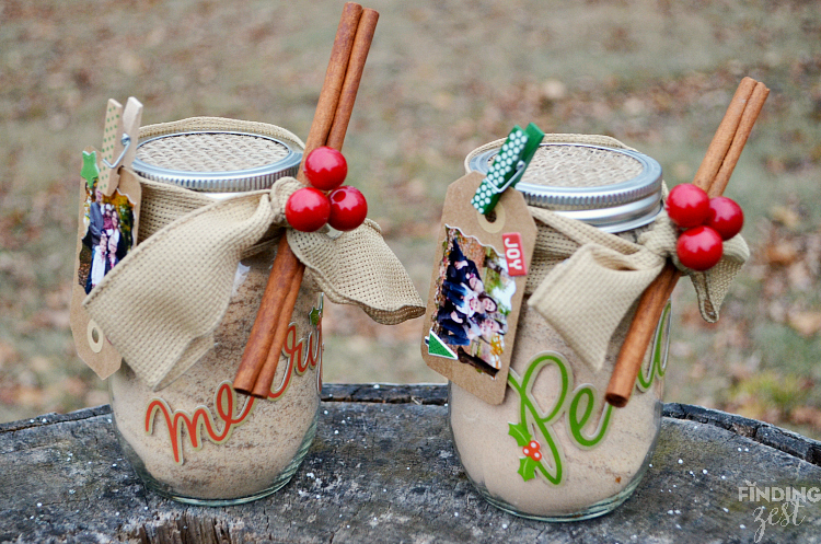 DIY Russian Tea Mason Jar Christmas Gift
