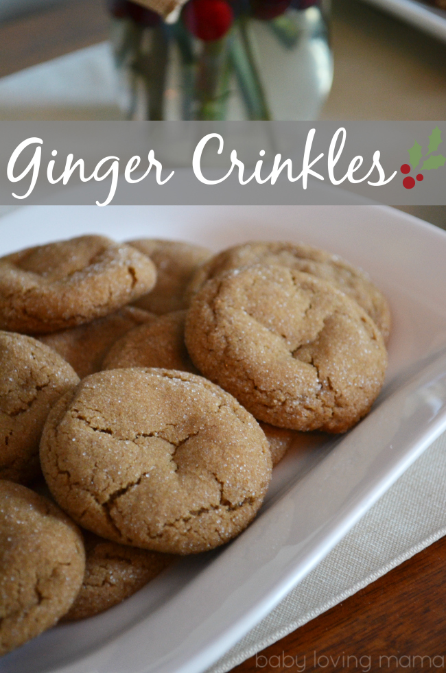 Ginger Crinkles Soft and Chewy Cookies from Betty Crocker