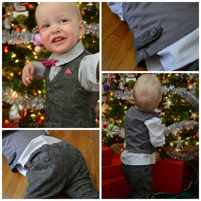 Holiday Toddler Suit for Boys Mamas and Papas