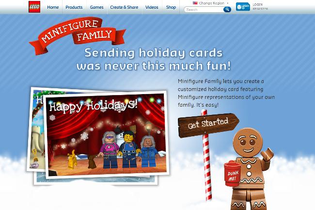 LEGO Minifigure Customize Postcard