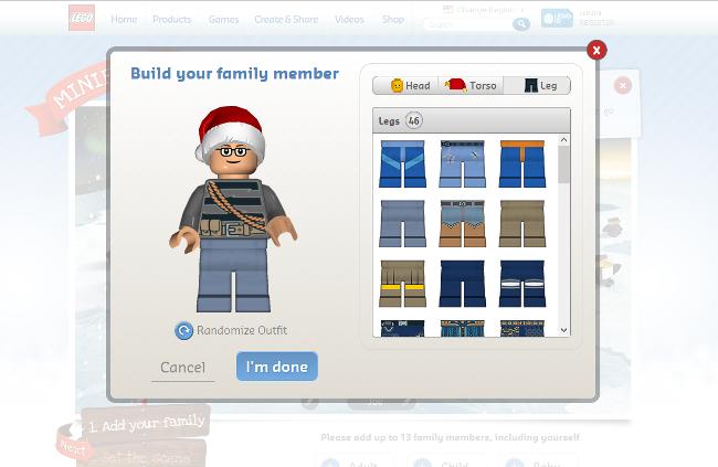 Lego Custom Mini Figure Family Screenshot Customize
