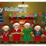 Create Your Own LEGO Minifigure Family Holiday Card