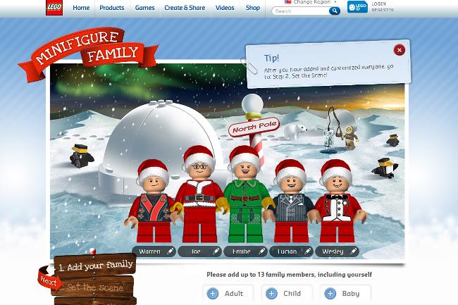 Lego Mini Figure Family Lineup