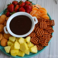 Warm Chocolate Dip with Only Two Ingredients #KraftRecipes