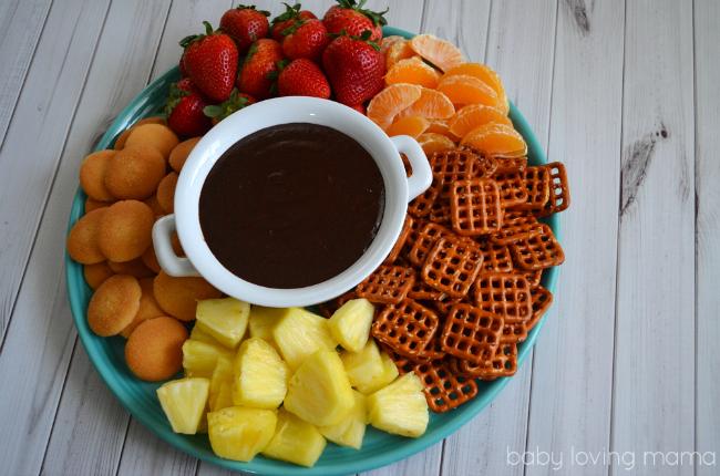 Warm Chocolate Dip from Kraft Easy