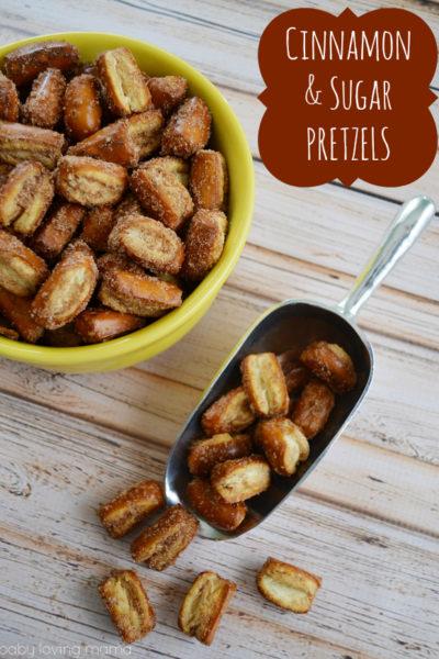 Cinnamon Sugar Pretzel Nuggets: Quick Sweet and Salty Snack