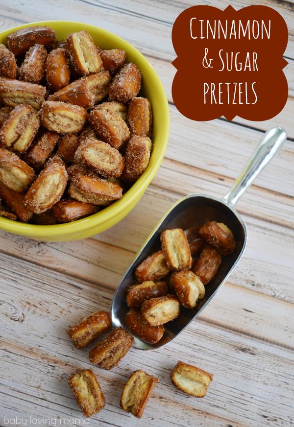 Cinnamon Sugar Pretzel Nuggets Quick Sweet And Salty