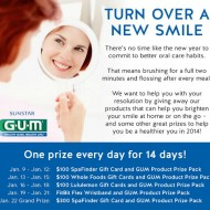 GUM Turn Over a New Smile Facebook Sweepstakes