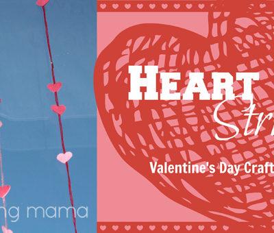 Heart on a String {Valentine's Day Craft Tutorial}