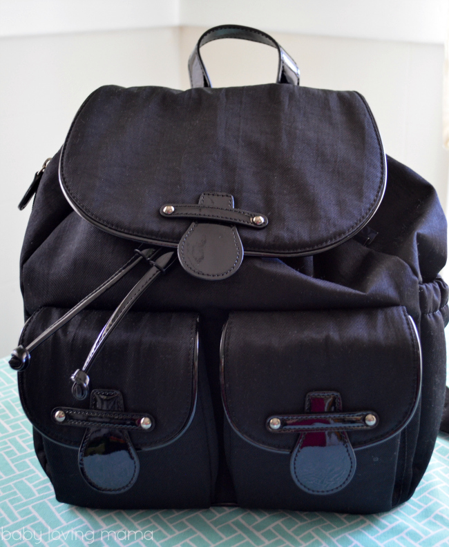 OiOi Backpack Diaper Bag Black Patent