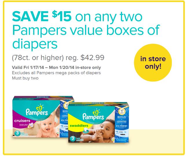 Pampers Babies R US Olypmics Savings