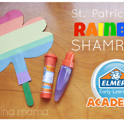 Rainbow Shamrock : Elmer's Early Learners Craft Tutorial + GIVEAWAY #EarlyLearnersAcademy