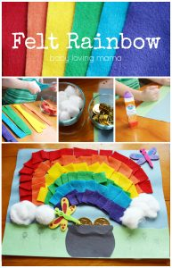 Felt Rainbow Craft for St Patricks Day and Spring