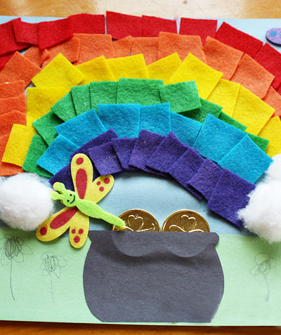 Felt Rainbow Craft for St Patrick's Day or Spring